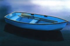 BlueBoatwithEveningReflections