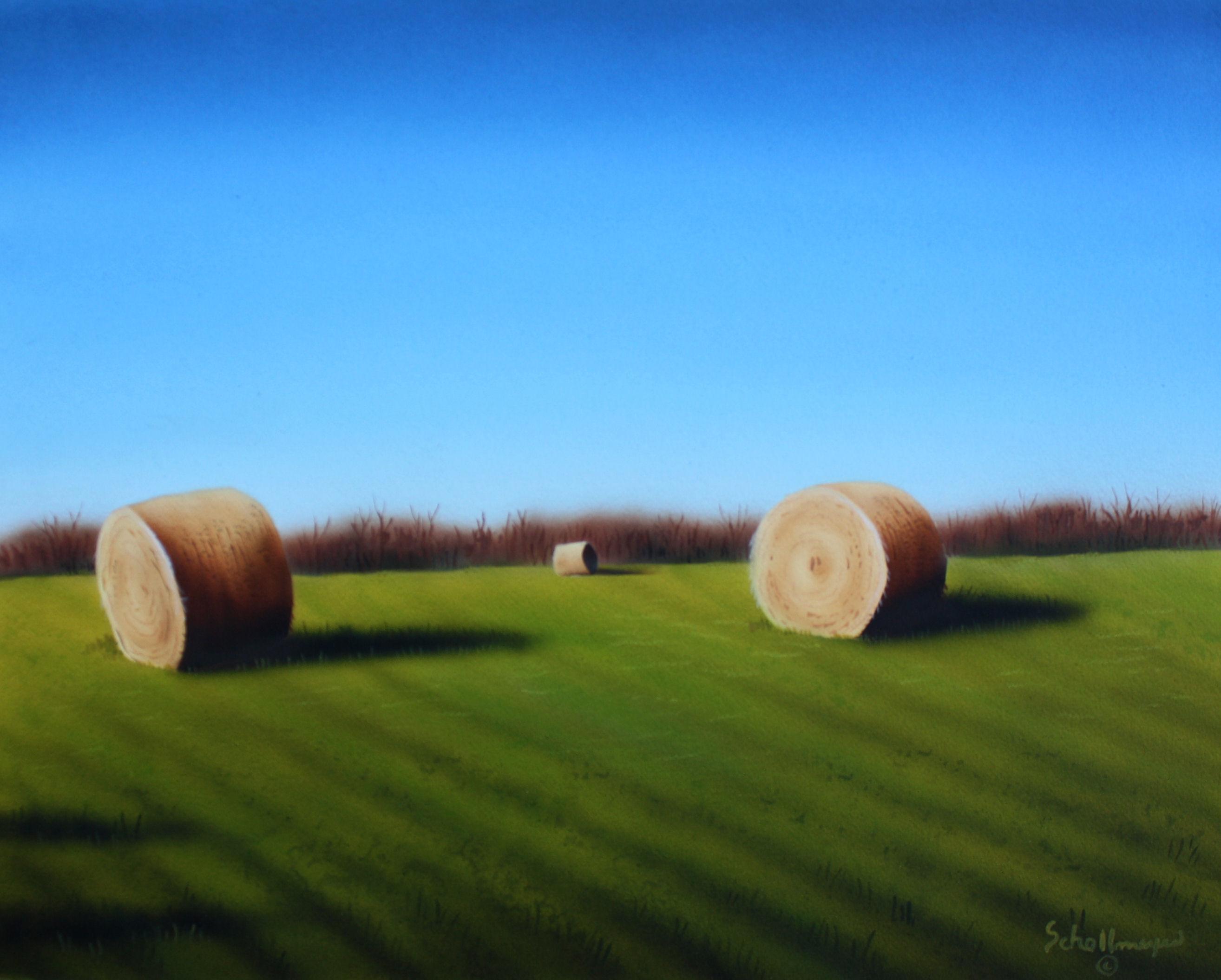 Early Fall Hay Field