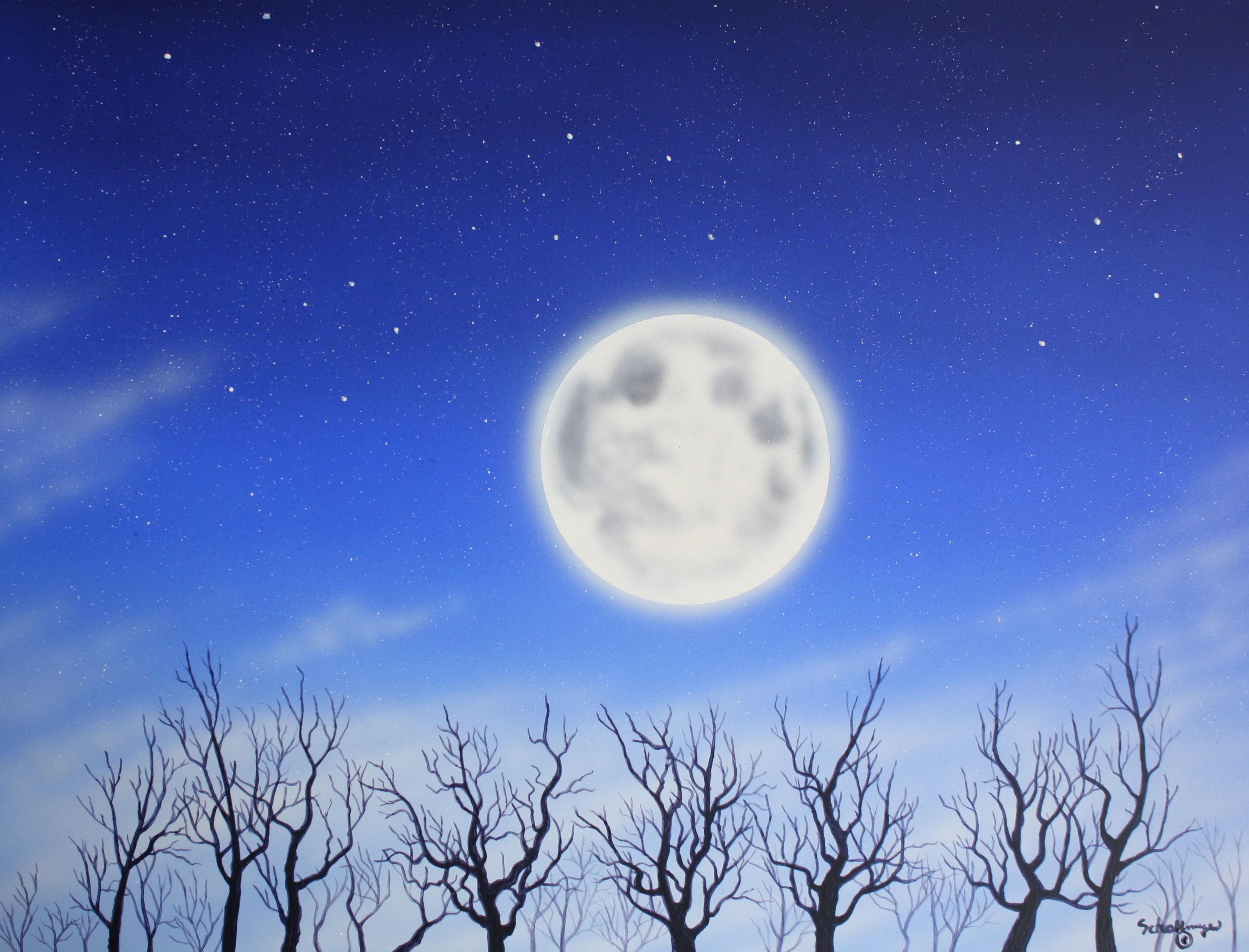 February Moon Glow