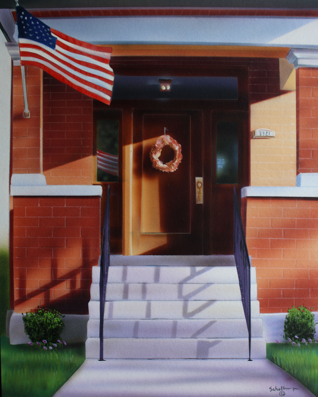 Porch on Oak Street